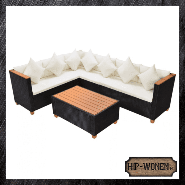 Loungeset rattan 6-pers.